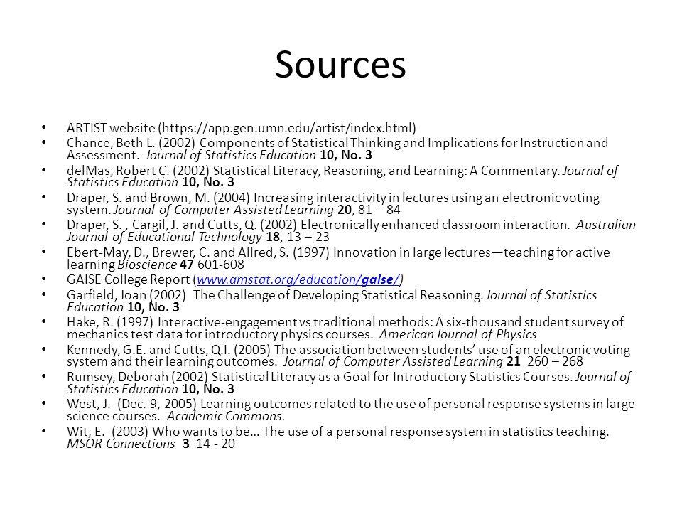 Sources ARTIST website (https://app.gen.umn.edu/artist/index.html)