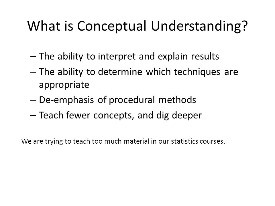 What is Conceptual Understanding