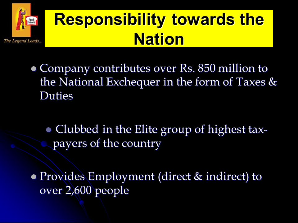 Responsibility towards the Nation