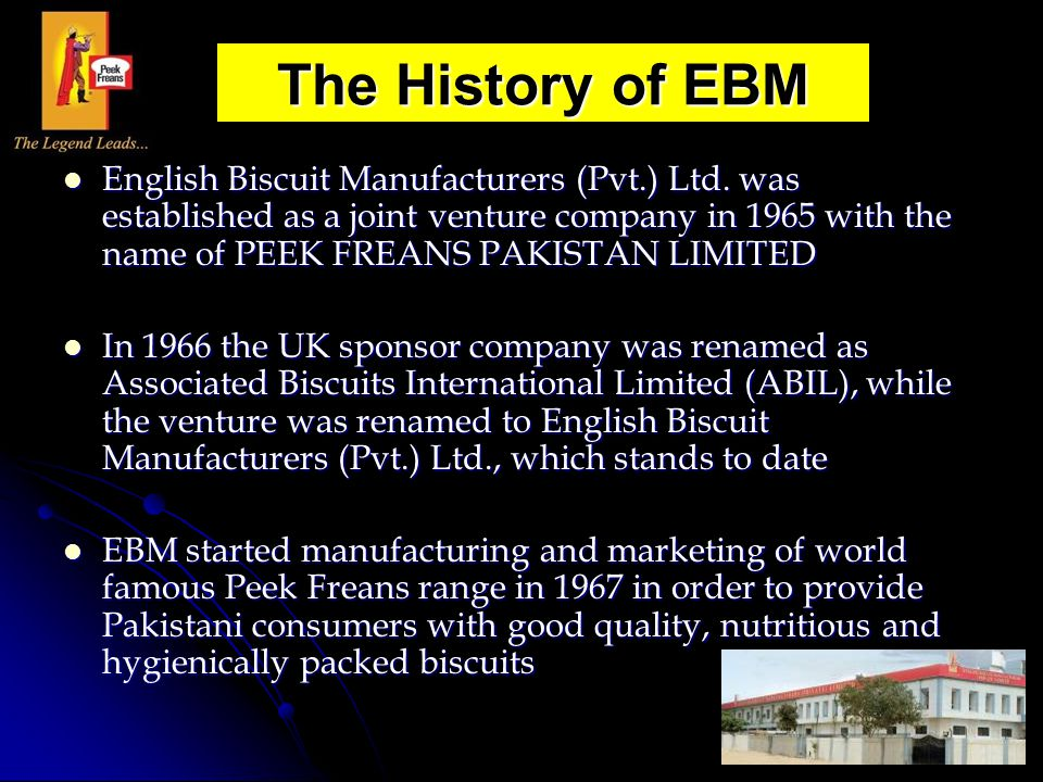 The History of EBM