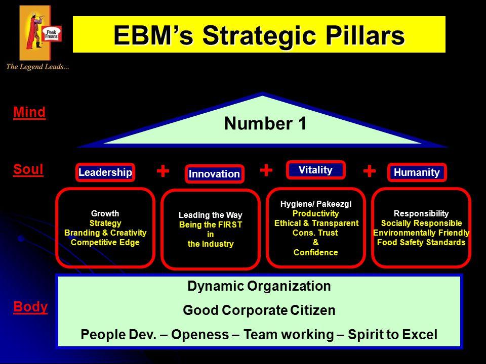EBM's Strategic Pillars