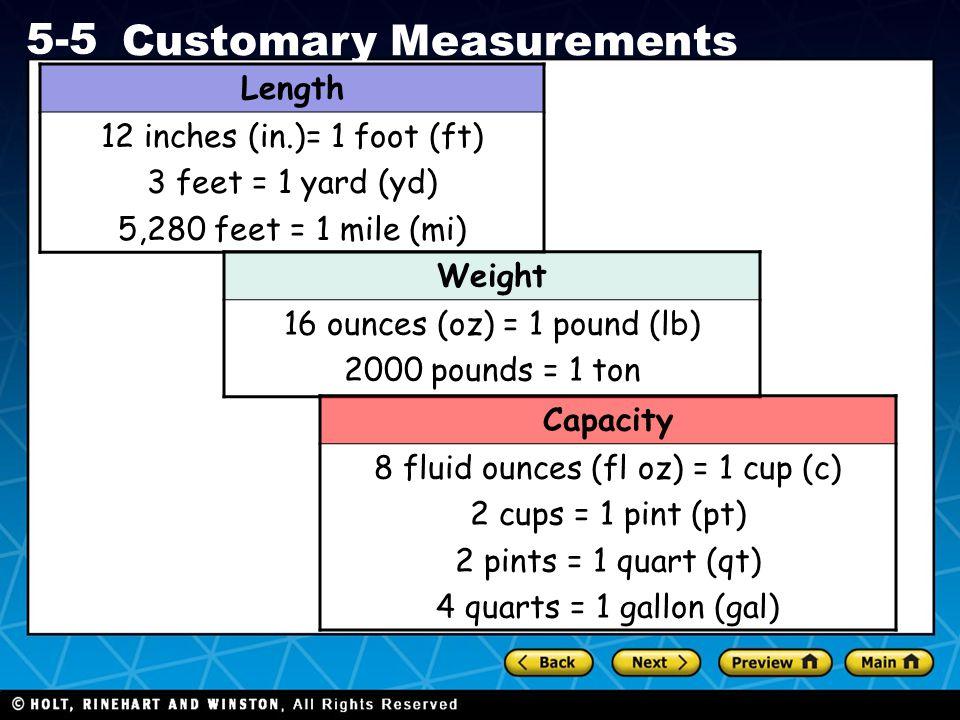 Length Weight Capacity
