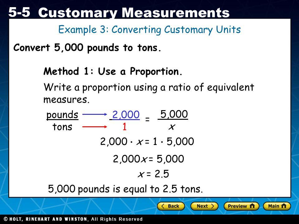 Example 3: Converting Customary Units