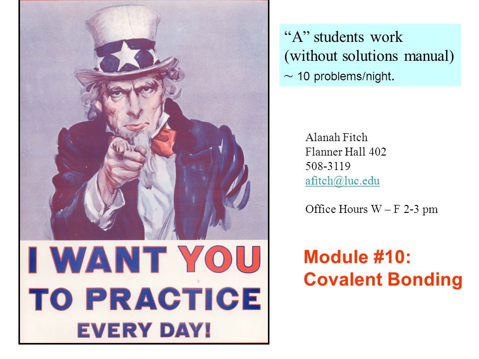 Module #10: Covalent Bonding A students work