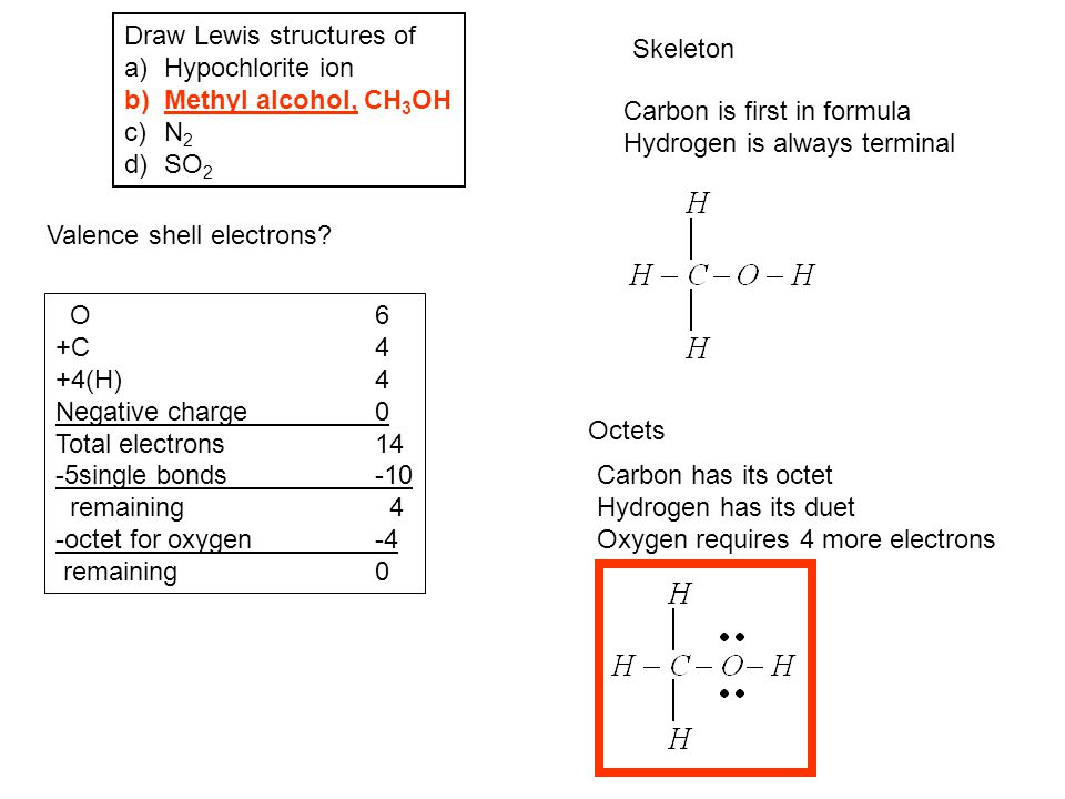 Draw Lewis structures of
