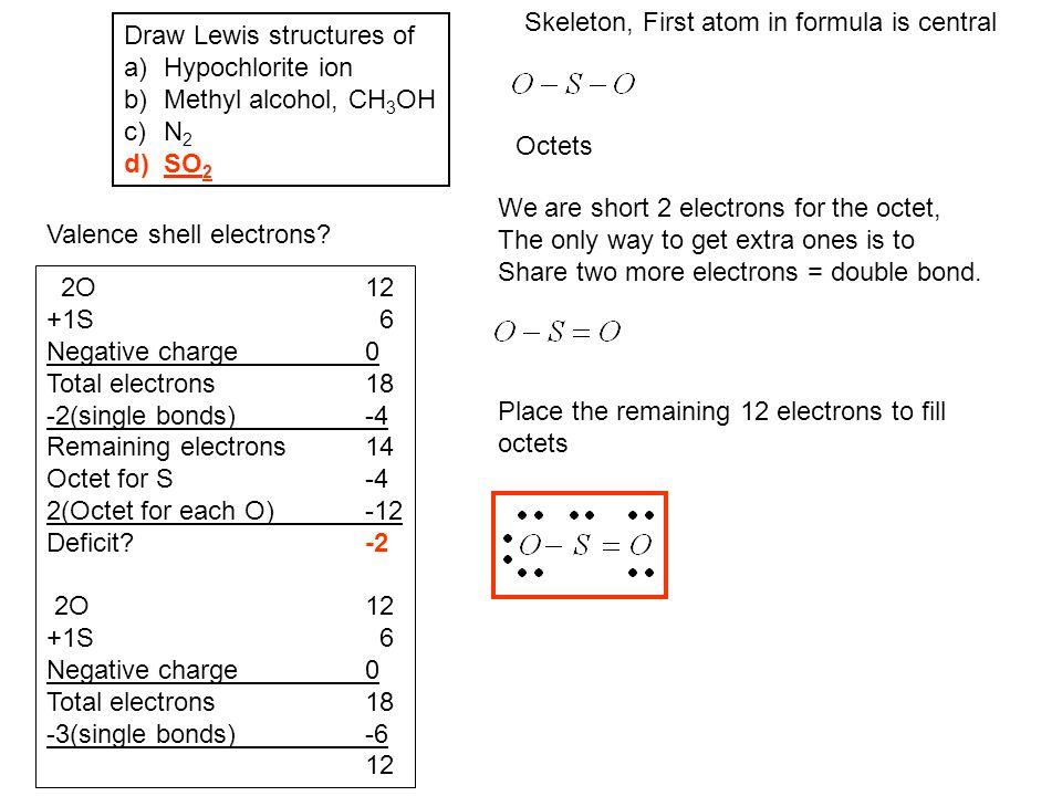 Skeleton, First atom in formula is central