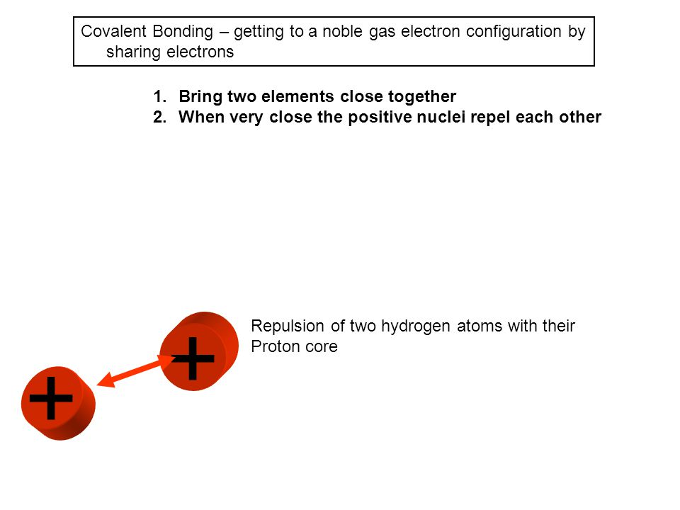 Covalent Bonding – getting to a noble gas electron configuration by