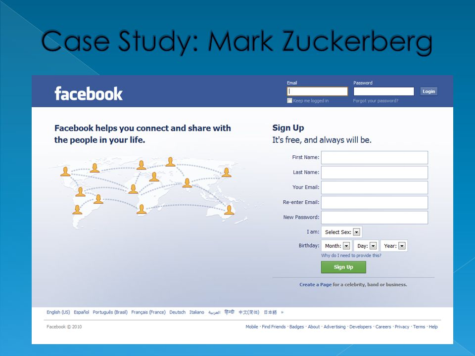 Case Study: Mark Zuckerberg
