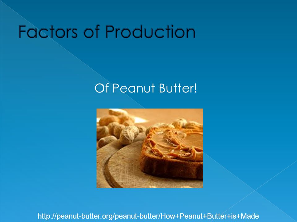 Factors of Production Of Peanut Butter!
