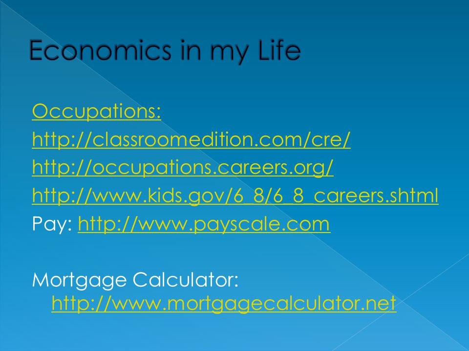 Economics in my Life