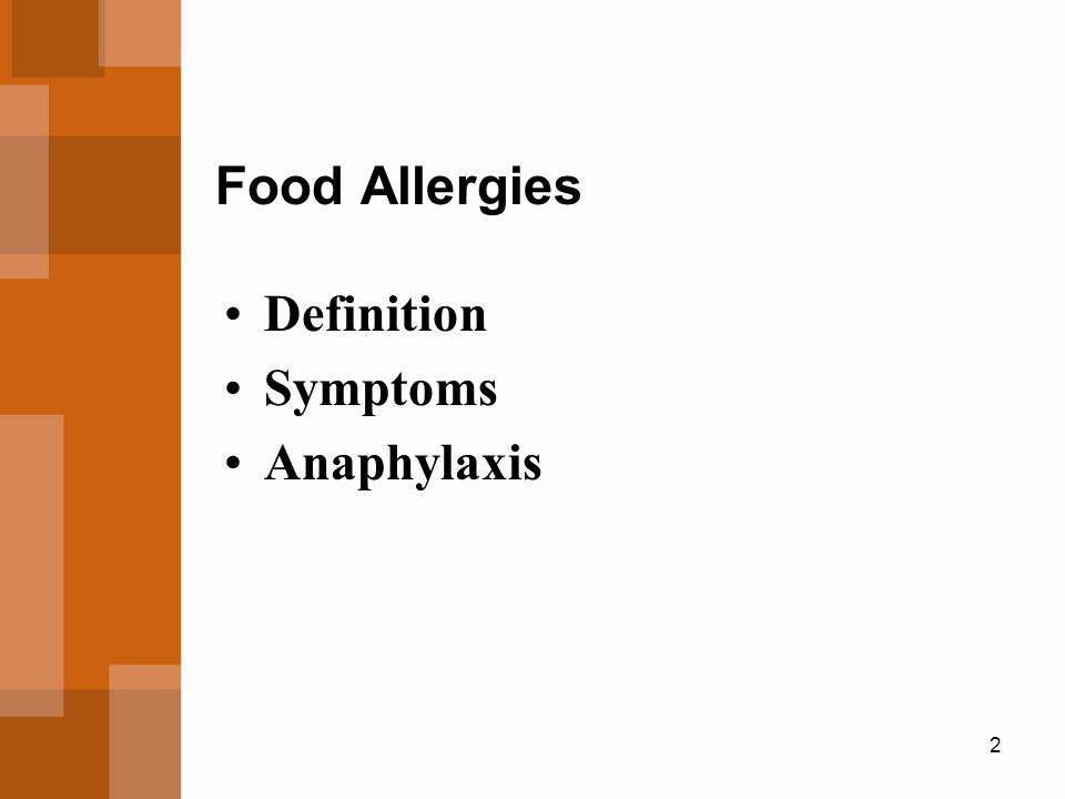 Food Allergies Definition Symptoms Anaphylaxis