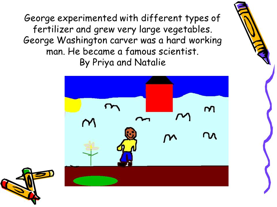 George experimented with different types of fertilizer and grew very large vegetables.