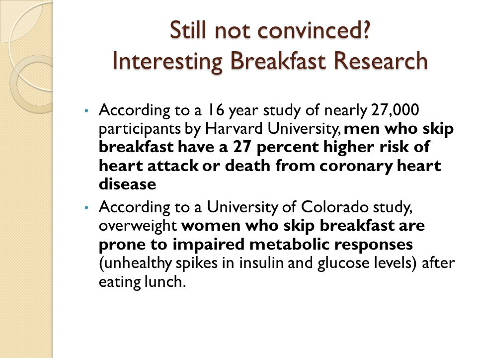 Still not convinced Interesting Breakfast Research