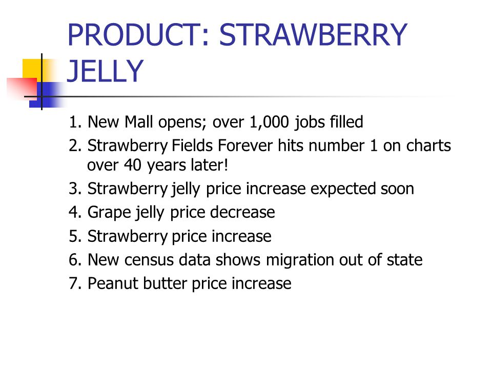 PRODUCT: STRAWBERRY JELLY