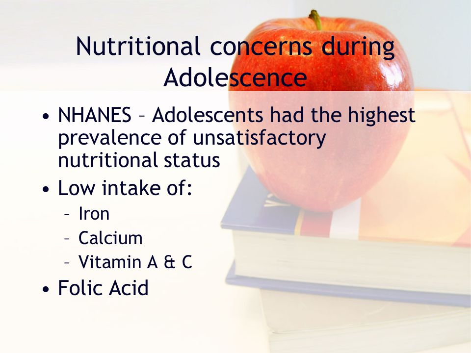 Nutritional concerns during Adolescence