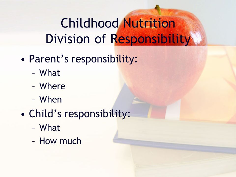 Childhood Nutrition Division of Responsibility