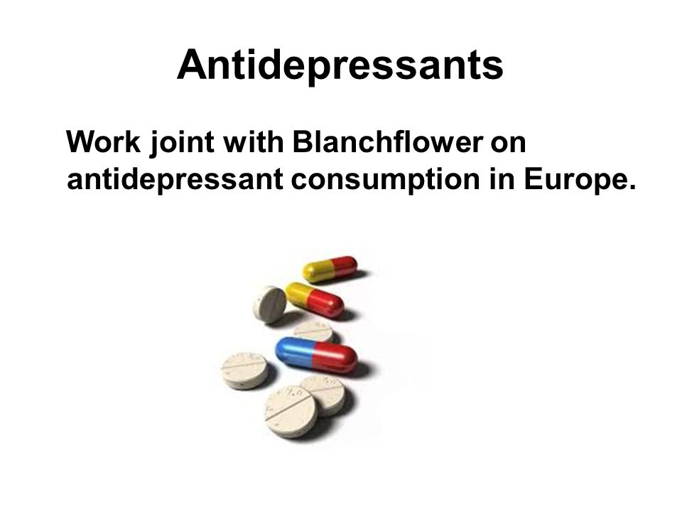 Antidepressants Work joint with Blanchflower on antidepressant consumption in Europe.