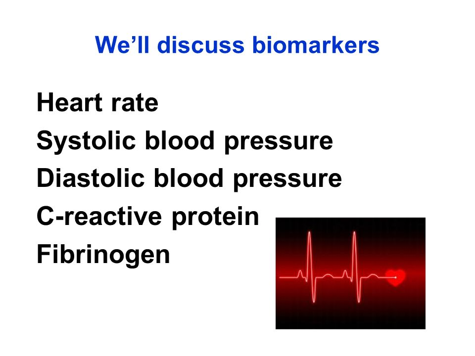 We'll discuss biomarkers