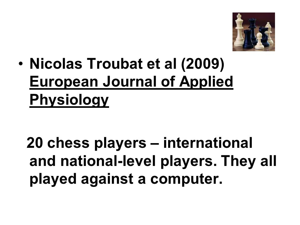 Nicolas Troubat et al (2009) European Journal of Applied Physiology