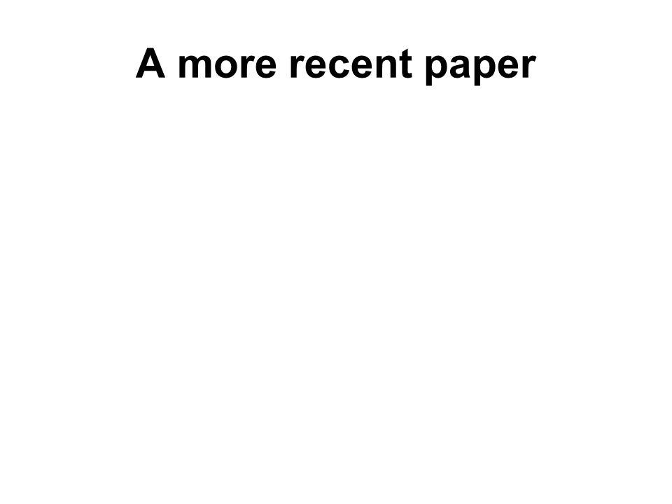 A more recent paper