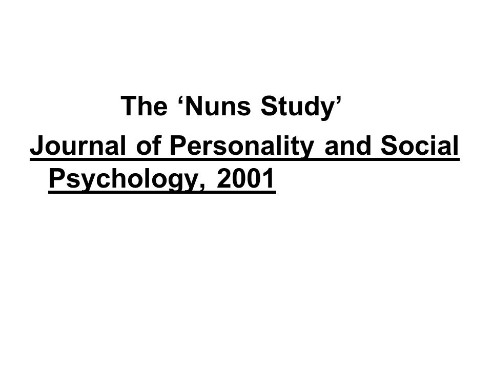 Journal of Personality and Social Psychology, 2001
