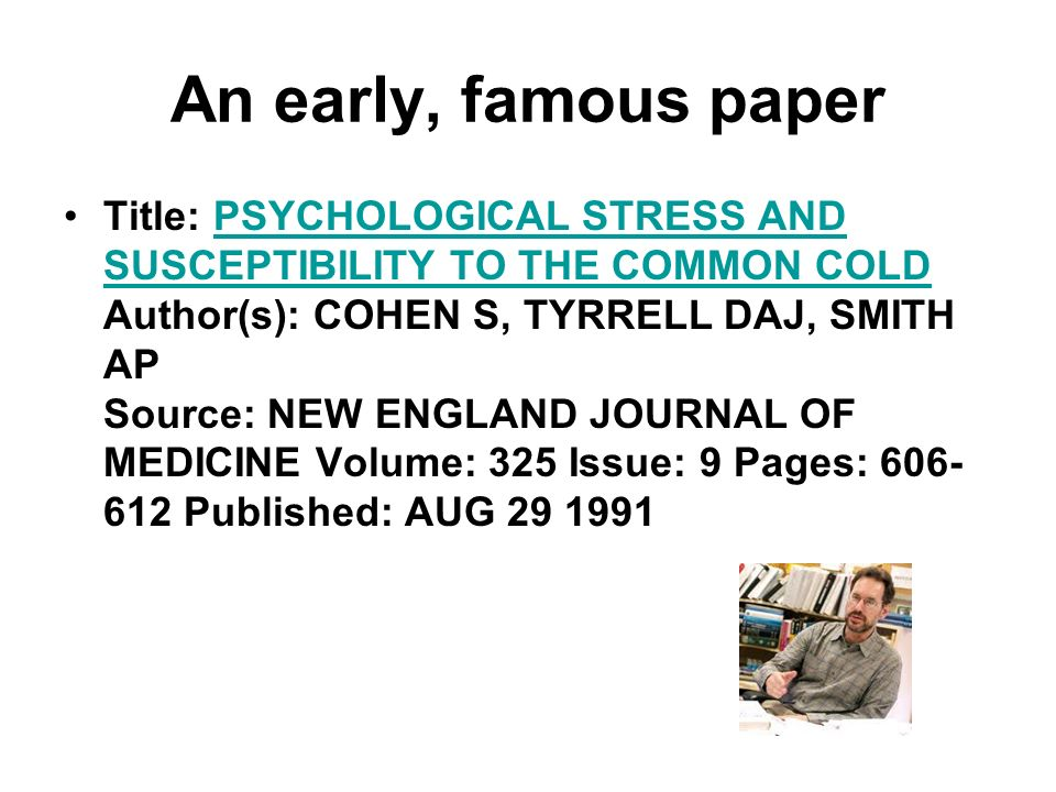 An early, famous paper