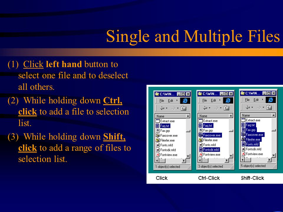 Single and Multiple Files