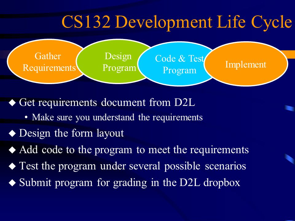 CS132 Development Life Cycle