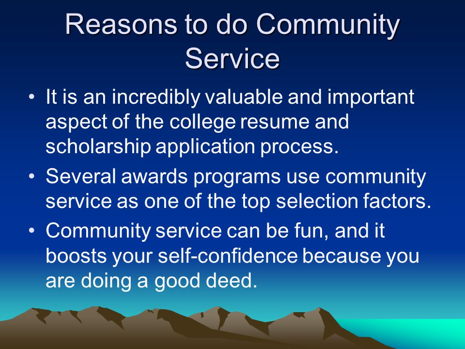 Essay community service important