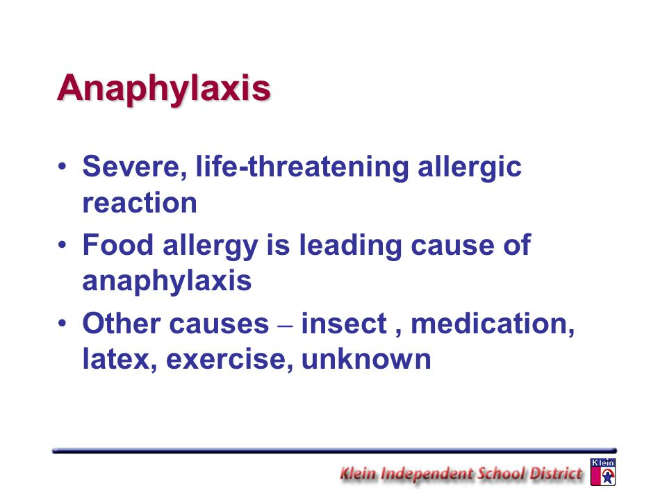 Anaphylaxis Severe, life-threatening allergic reaction