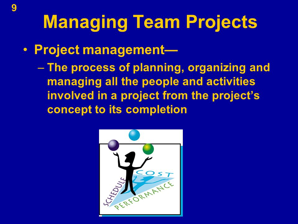 Managing Team Projects