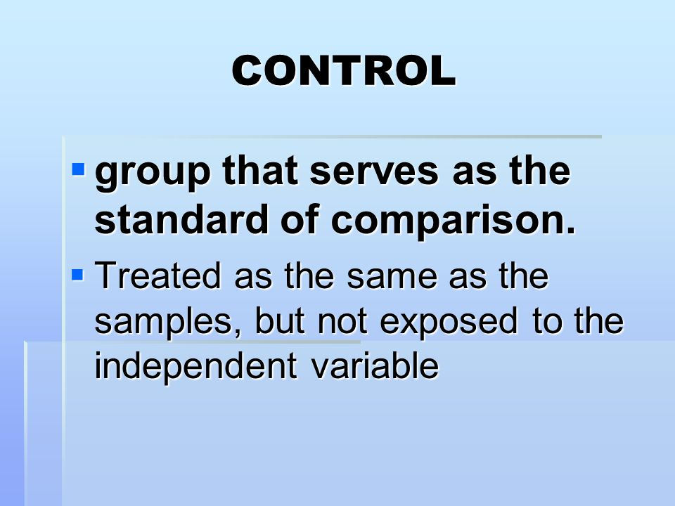 group that serves as the standard of comparison.