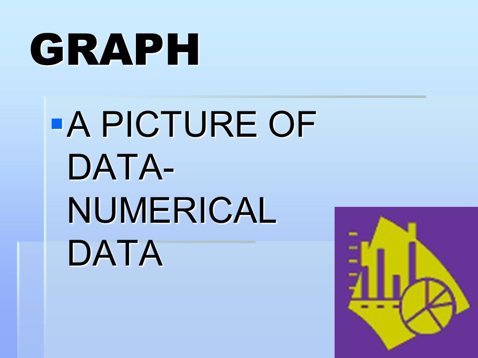 GRAPH A PICTURE OF DATA- NUMERICAL DATA