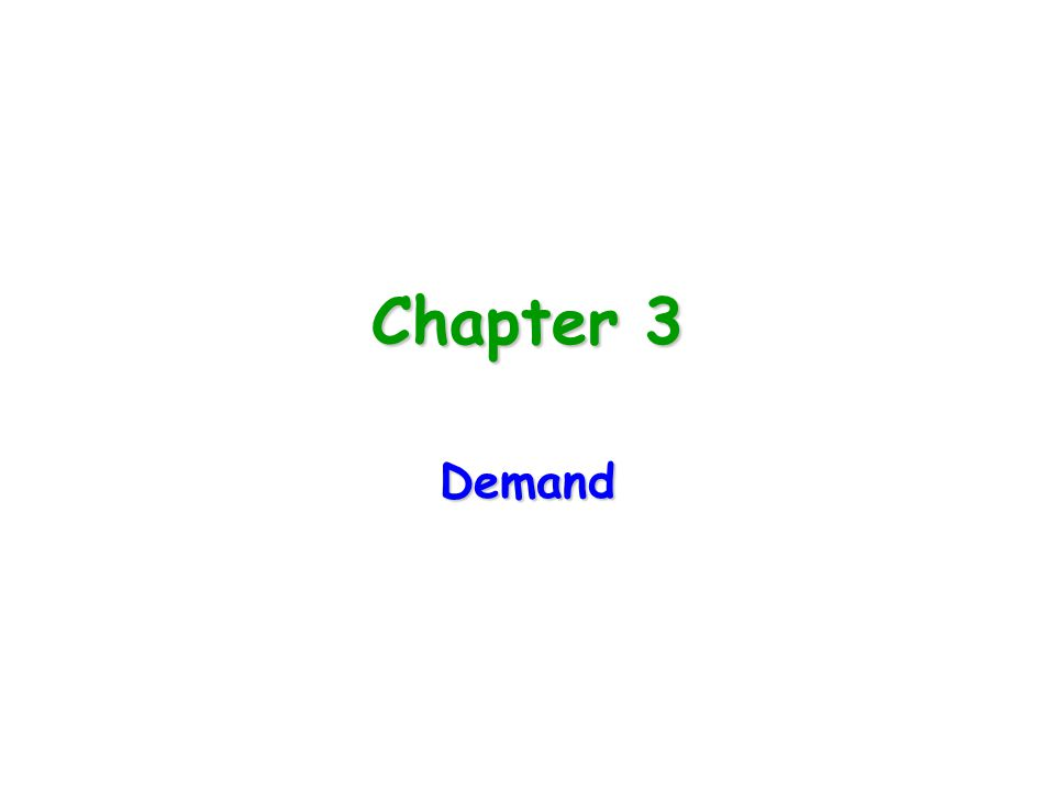 Chapter 3 Demand
