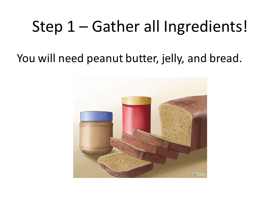 Step 1 – Gather all Ingredients!