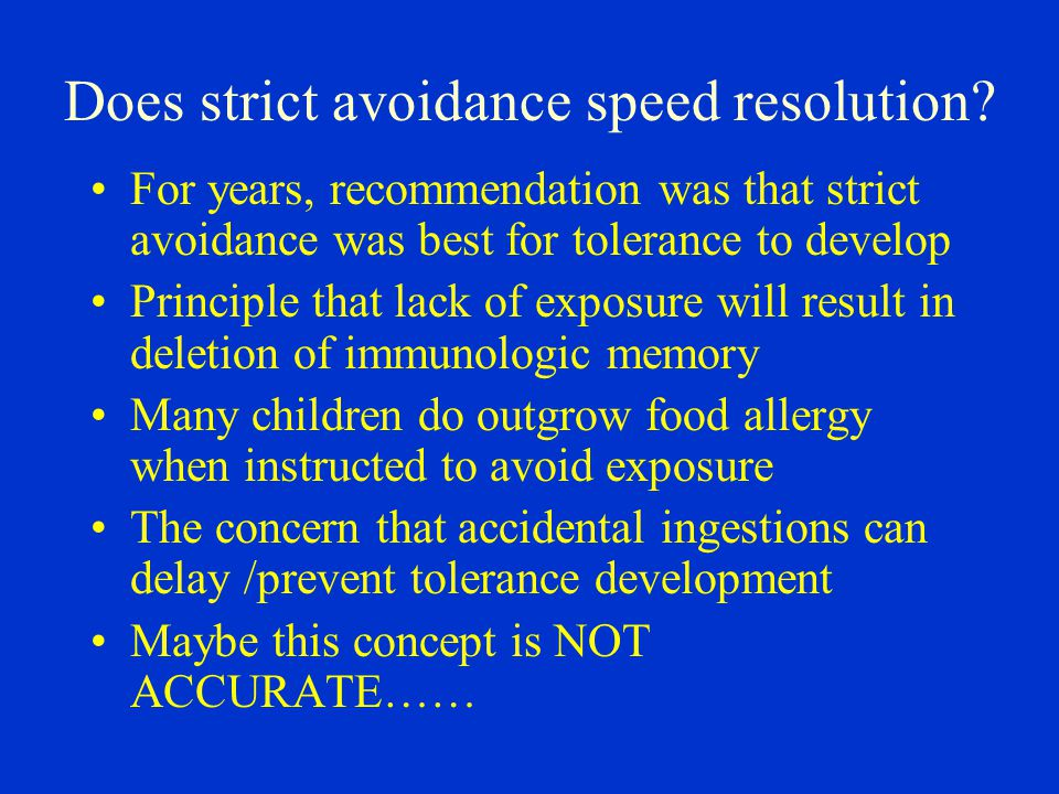 Does strict avoidance speed resolution
