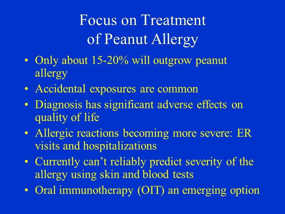 Focus on Treatment of Peanut Allergy