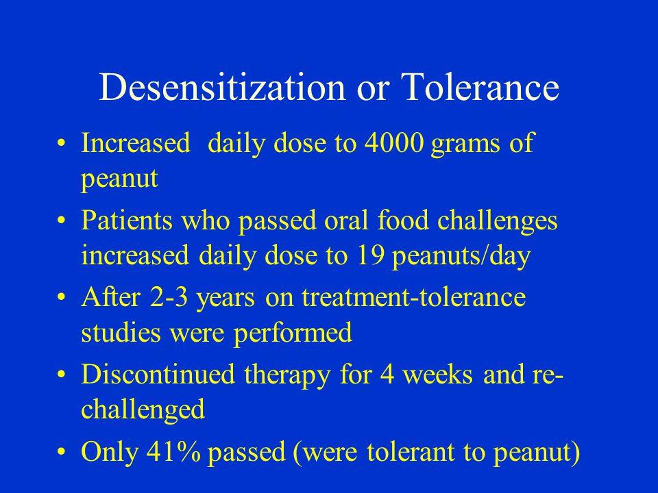 Desensitization or Tolerance