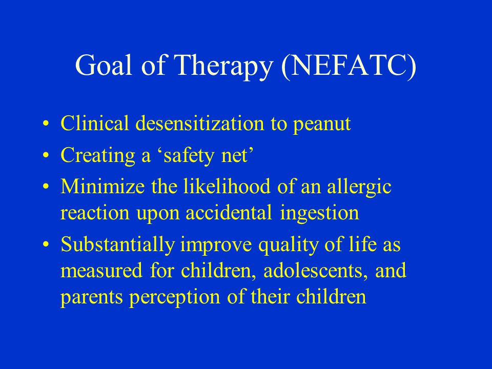 Goal of Therapy (NEFATC)