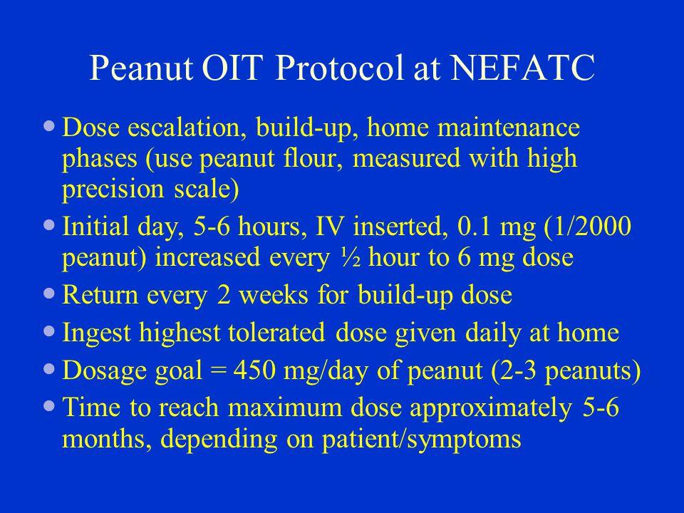 Peanut OIT Protocol at NEFATC