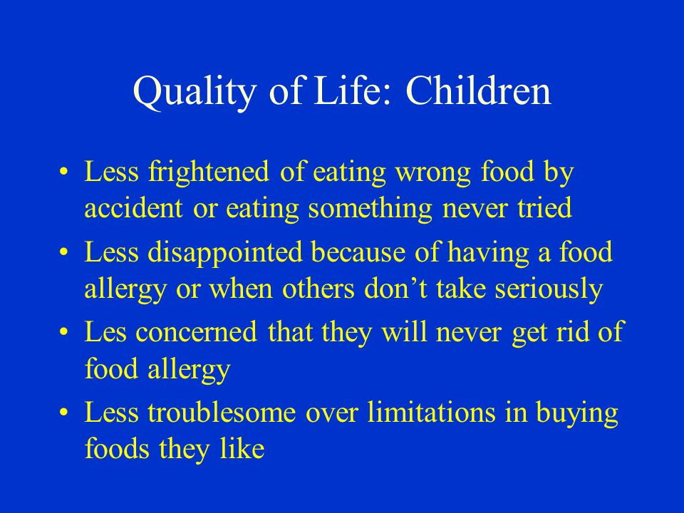 Quality of Life: Children