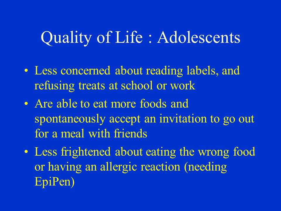 Quality of Life : Adolescents