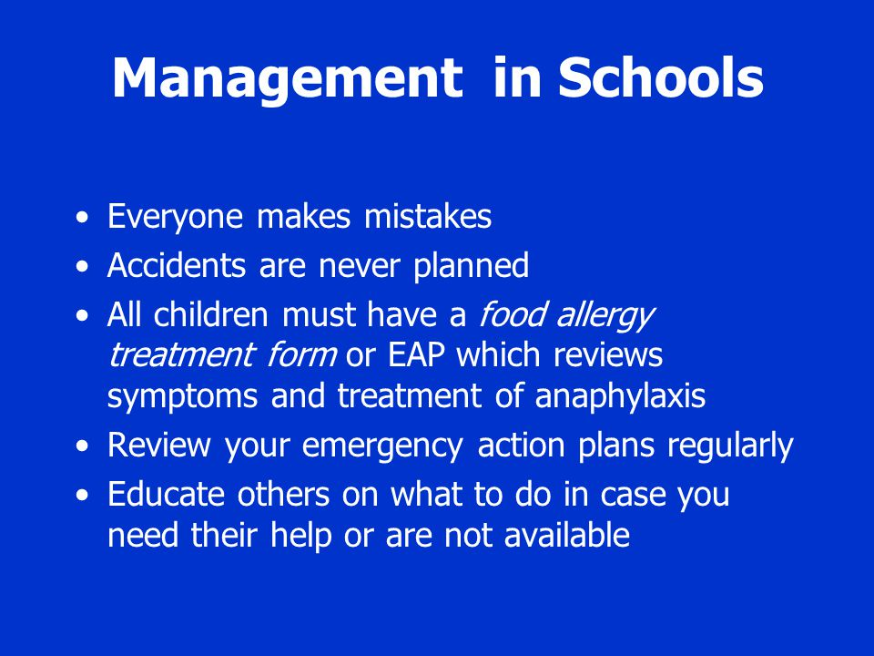 Management in Schools Everyone makes mistakes