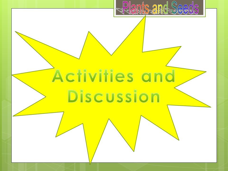 Activities and Discussion