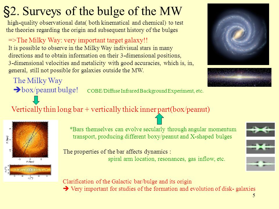 §2. Surveys of the bulge of the MW