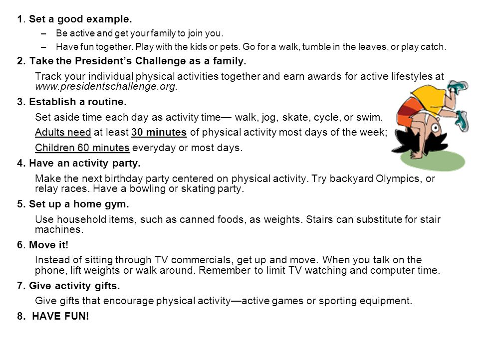 2. Take the President's Challenge as a family.