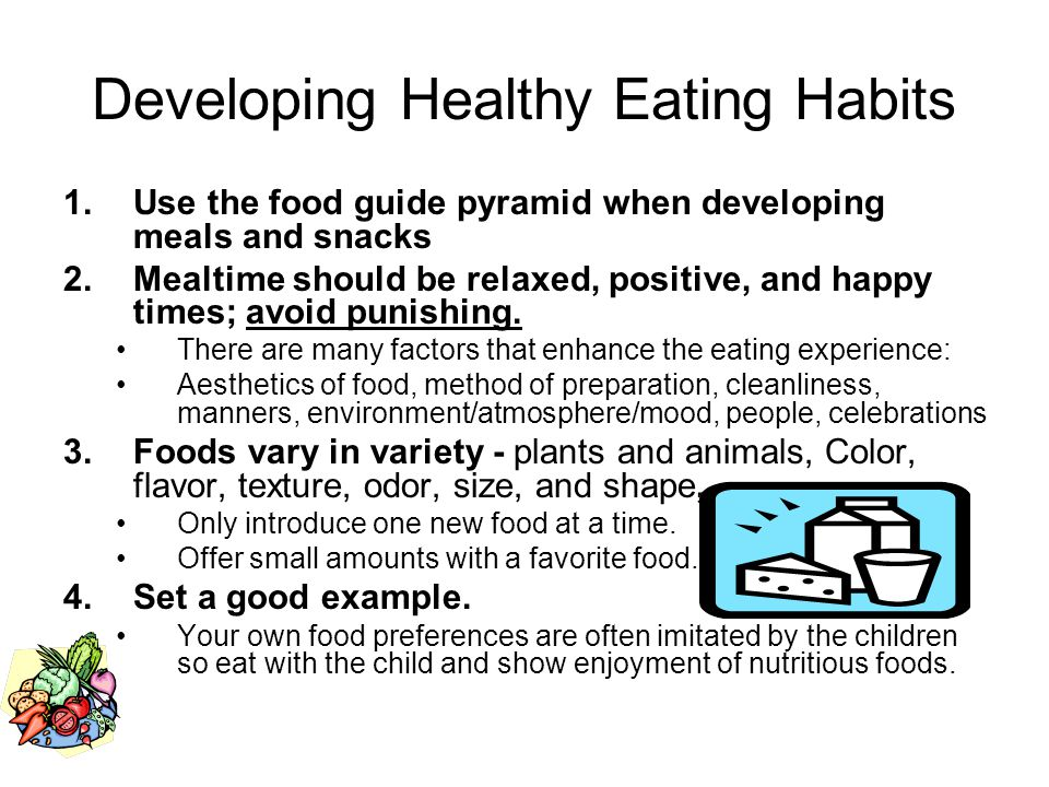 Developing Healthy Eating Habits