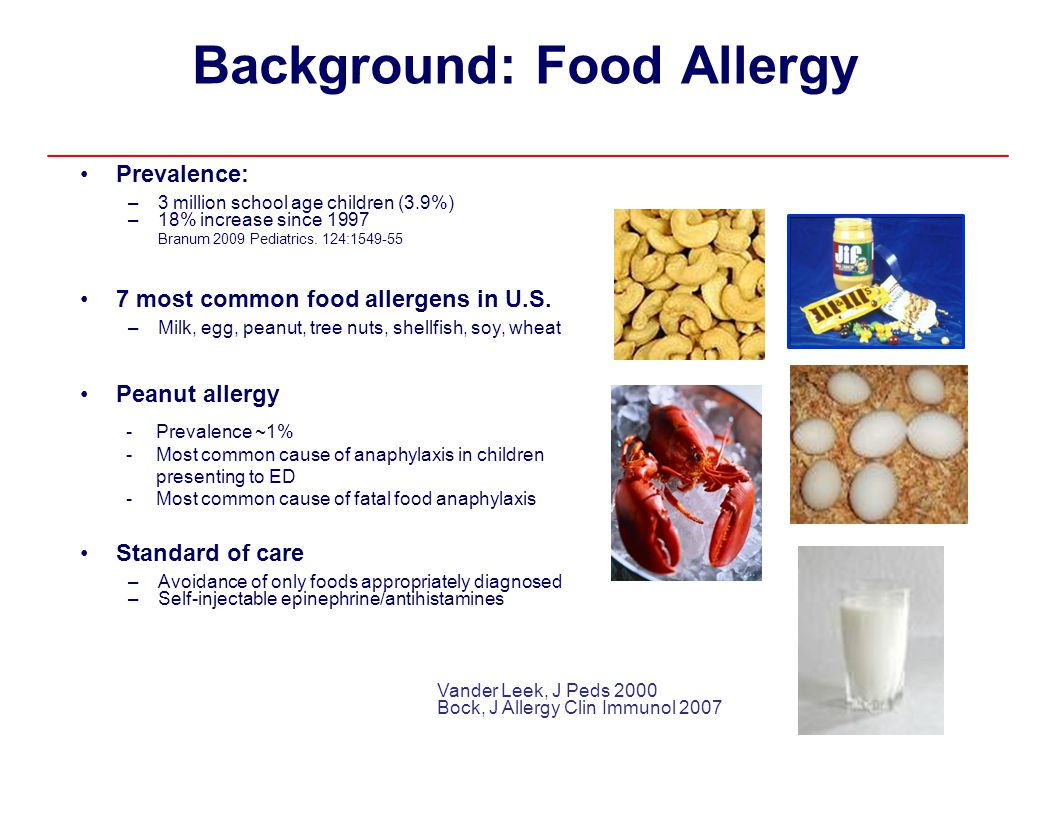 Background: Food Allergy • Prevalence: •