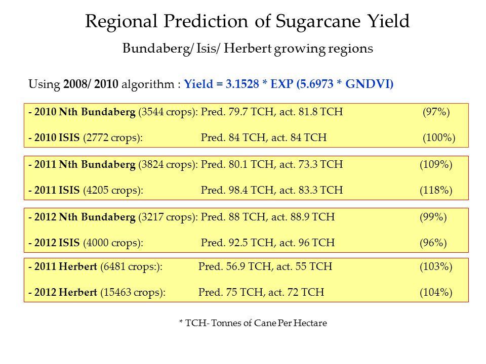 Regional Prediction of Sugarcane Yield