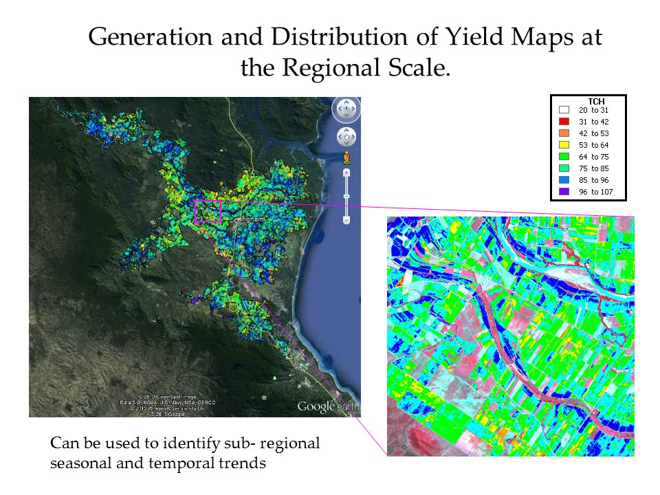 Generation and Distribution of Yield Maps at the Regional Scale.